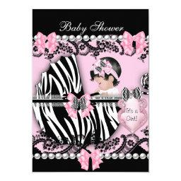 Cute Baby Girl Pink Zebra Lace 2