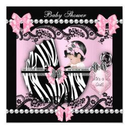 Cute Baby Girl Pink Zebra Lace