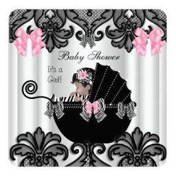 Cute Baby Girl Pink Zebra White Black