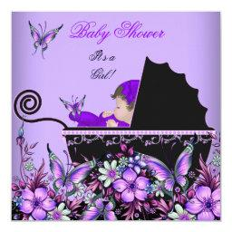 Cute Baby Girl Purple Butterfly 2