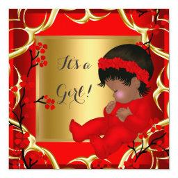 Cute Baby Girl Red Blossom Gold AM 4