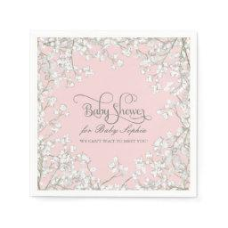 Decor Babys Breath Wreath Floral Napkin
