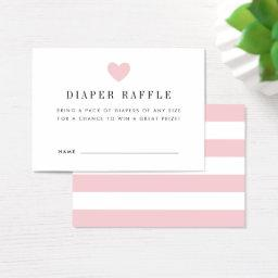 Diaper Raffle Ticket  | Blush