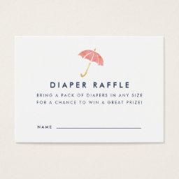 Baby Shower Diaper Raffle Ticket  | Coral