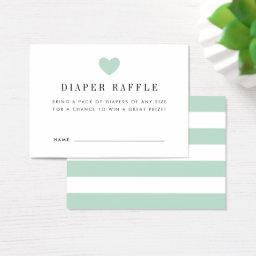 Baby Shower Diaper Raffle Ticket  | Mint