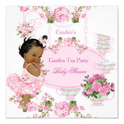 Floral Rose Tea Party Pink Ethnic