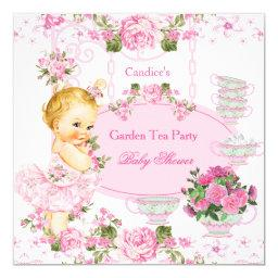 Garden Tea Party Lace Pink Blonde