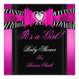 Girl Baby Hot Pink Black Zebra
