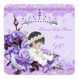 Baby Shower Girl Butterfly Lilac Lavender Rose
