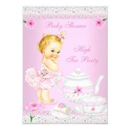 Girl Pink High Tea Party Blonde