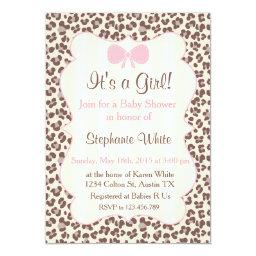 Baby Shower girl pink leopard