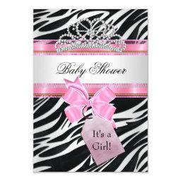 Girl Zebra Pink Princess Tiara