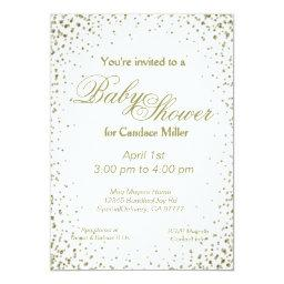 Baby Shower | Gold Confetti