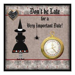 Halloween Alice in Wonderland Invites