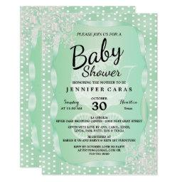Baby Shower in an Elegant Mint Green and White