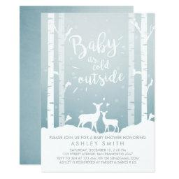 Baby Shower invite Baby it's cold outside Deer