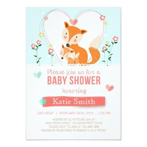 fox baby shower invitations babyshowerinvitations4u