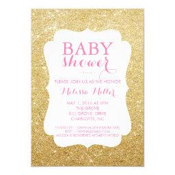 Baby Shower Invite - Glittered