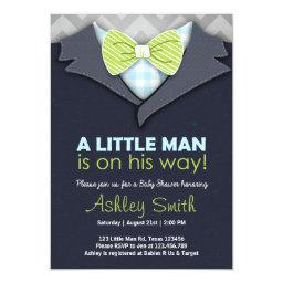Invite Little Man Bow Tie Blue Green