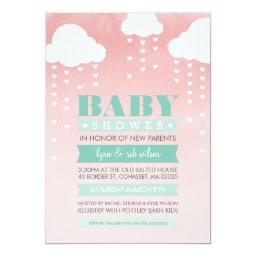 INVITE ombre watercolor mint coral