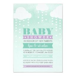 INVITE ombre watercolor mint purple