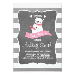 invite Pink gray Polar Bear