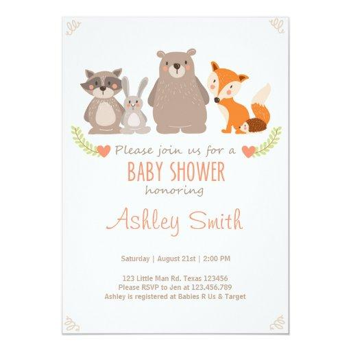 baby shower baby shower invite woodland animals forest