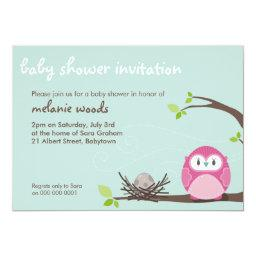 BABY SHOWER INVITES :: owl  nest 2L