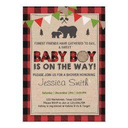 Rustic Lumberjack Baby boy shower