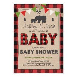 Baby Shower Rustic Lumberjack Outdoor