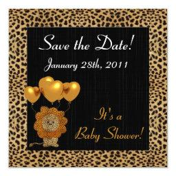 Baby Shower Save the Date Cheetah Print