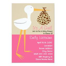 Stork With Giraffe Print Bundle