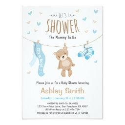 Baby Shower Teddy Bear  Baby Boy