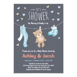 Teddy Bear  Blue Boy shower