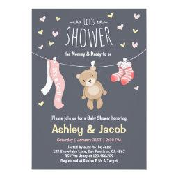 Teddy Bear  Pink Girl shower