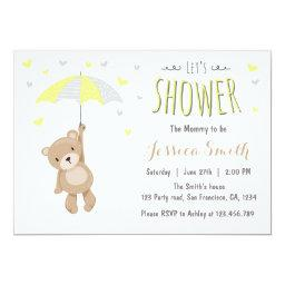 Baby Shower Teddy Bear  Yellow Neutral