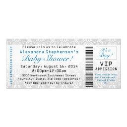 Baby Shower Ticket , Boy
