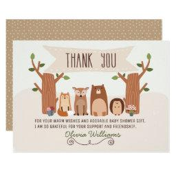 Baby Shower Woodland Animals Thank You