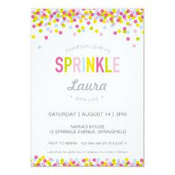 Baby Sprinkle Invitation, Bright Colours Invitations