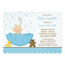 Baby Sprinkle Shower Invitations for Boy