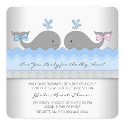 Baby Whale Gender Reveal Shower