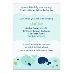 Baby Whale Nautical Baby Shower