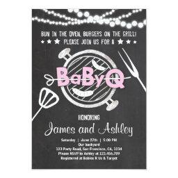 BabyQ BBQ Couples Shower Coed Baby Shower Pink