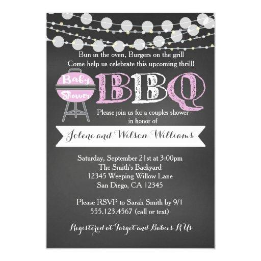 BabyQ & Couples Coed Baby Shower Invitations | BabyShowerInvitations4U