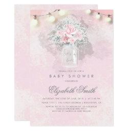 Baby's Breath and Pink Roses Rustic