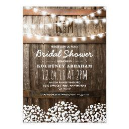Baby's Breath Rustic Wood Baby Shower