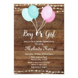 Balloon gender reveal party