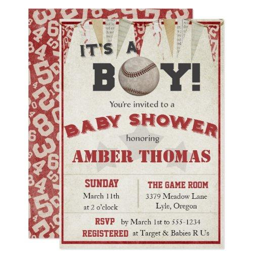 Baseball Baby Boy Shower