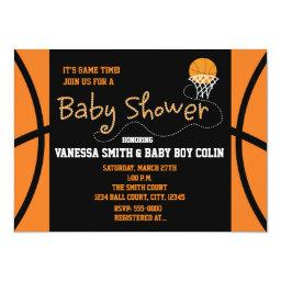 BASKETBALL BABY SHOWER Typography Party
