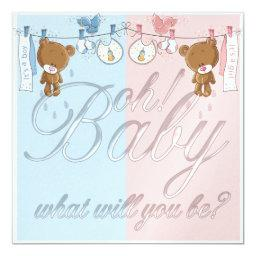 Bear Baby Gender Reveal Party